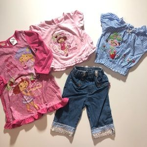 🍓Strawberry Shortcake 3T Girl Clothes Bundle
